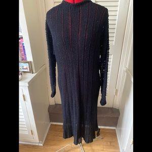 Vintage ladies black knit sweater dress